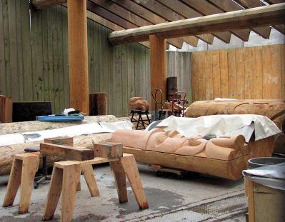granville island totem pole makers by lorelle vanfossen