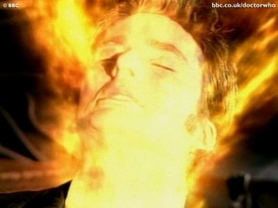 doctor who - david tennant regerating closeup