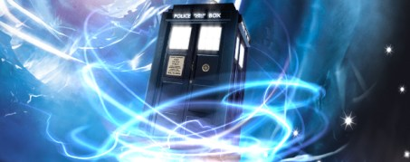 doctor who - tardis with swirls