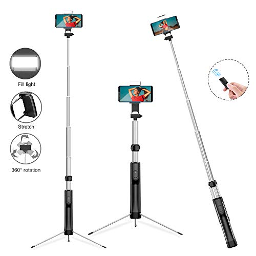 63″ Selfie Stick Tripod with Wireless Bluetooth Remote