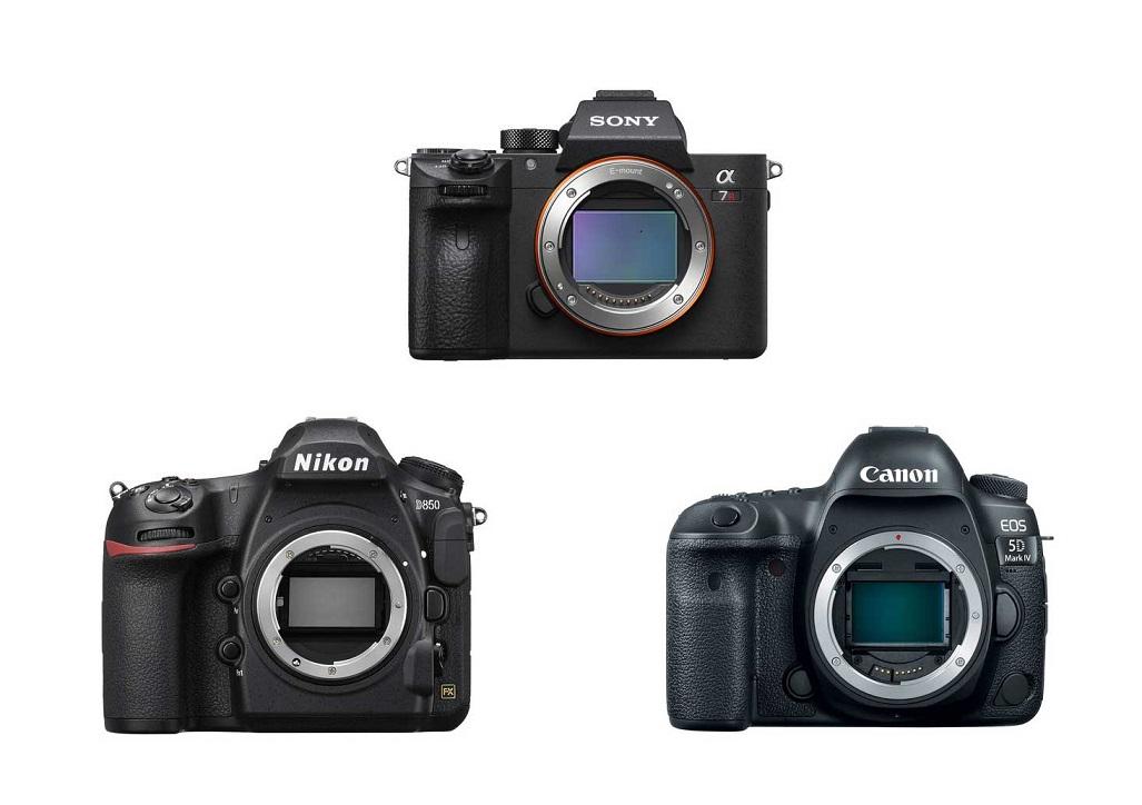 Sony a7R III vs Nikon D850 vs Canon EOS 5D Mark IV Specs Comparison