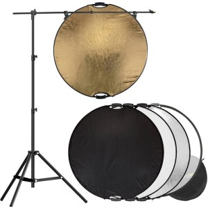 5-in-1 Reflector with Lightstand and Holder Kit