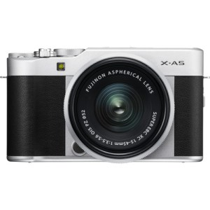 FUJIFILM X-A5 Mirrorless Digital Camera with 15-45mm Lens (Silver)