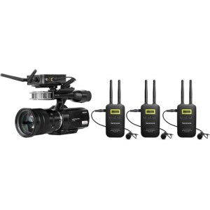 Saramonic VmicLink5 RX+TX+TX+TX Camera-Mount Digital Wireless Microphone System with Three Bodypack Transmitters and Lavalier Mics (5.8 GHz)