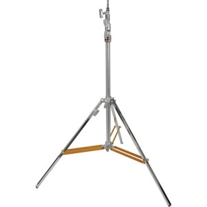 Silver Heavy-Duty Air-Cushioned Light Stand (Black, 9.5')