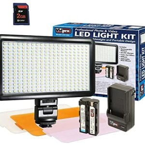 Digital Camera Lighting Ultra-Slim LED-300 Vidpro Model LED-300 Professional Photo & Video Light Kit