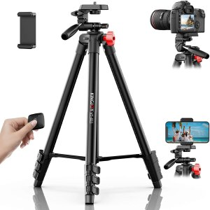 KINGJOY Phone Tripod Travel Cell Phone Holder Wireless Remote Shutter