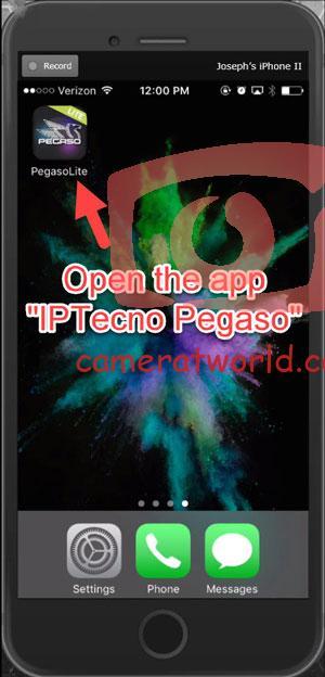 فتح تطبيق Pegaso