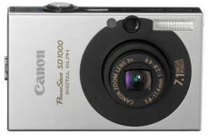 Canon PowerShot SD1000 Manual for Canon's Good Track-Recording Compact Camera