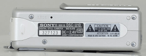 Sony DSC-U10 Manual (Camera Side)
