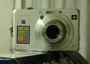 Sony DSC-W100 Manual (camera front side)