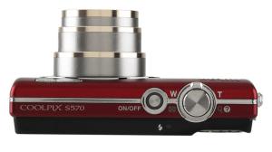 Nikon CoolPix S570 Manual - camera side