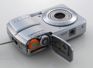 Pentax Optio E50 Manual - camera side