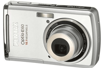 Pentax Optio E60 Manual User Guide and Specification