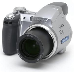 Sony Cyber-Shot DSC-H2 Manual - camera front face