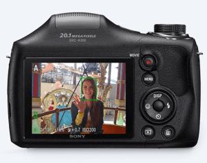 Sony Cyber-Shot DSC-H300 Manual - camera back side