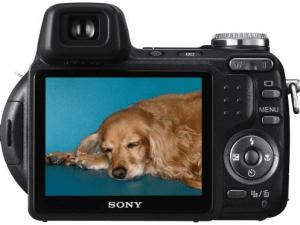 Sony Cyber-Shot DSC-H5 Manual - camera backside