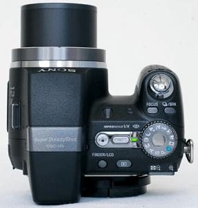 Sony Cyber-Shot DSC-H5 Manual - camera side