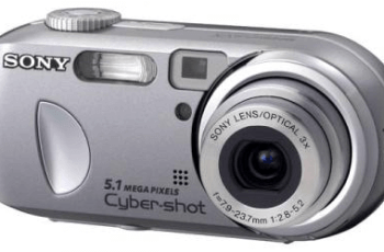 Sony Cyber-Shot DSC-P93 Manual - camera front face