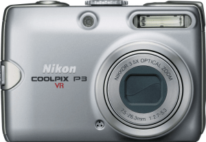 Nikon CoolPix P3 Manual - camera front side