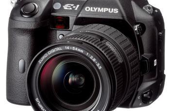 Olympus E-1 Manual - camera front face