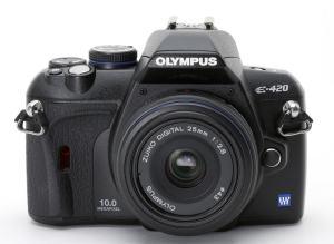 Olympus E-420 Manual - camera front face