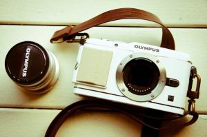 Olympus E-P3 Manual - retro design