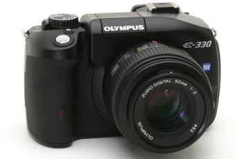 Olympus EVOLT E-330 Manual - camera front face
