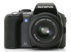 Olympus EVOLT E-500 Manual - camera front face