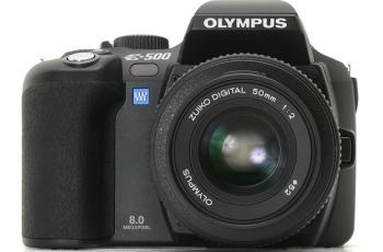 Olympus EVOLT E-500 Manual - camera front face