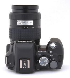 Olympus EVOLT E-500 Manual-camera side