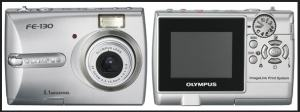 Olympus FE-130 Manual - camera front and back side