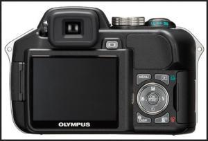 Olympus SP-560 UZ Manual - camera back side