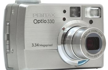 Pentax Optio 330 Manual - camera front face
