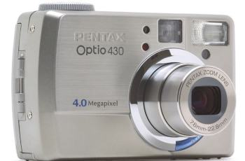 Pentax Optio 430 Manual - camera front face