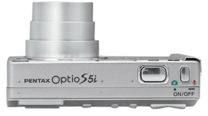 Pentax optio S5i Manual - camera side