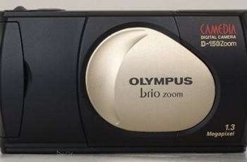 Olympus D-150 Manual - camera with flash closed
