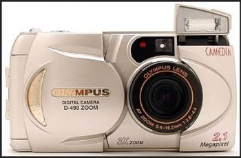 Olympus D-400 Zoom Manual - camera front face