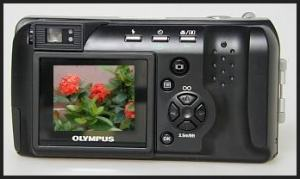 Olympus D-460 Zoom Manual - camera back side