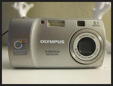 Olympus D-555 Zoom Manual - camera front side