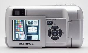 Olympus D-560 Zoom Manual - camera back side