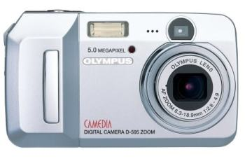 Olympus D-595 Zoom Manual - camera front side