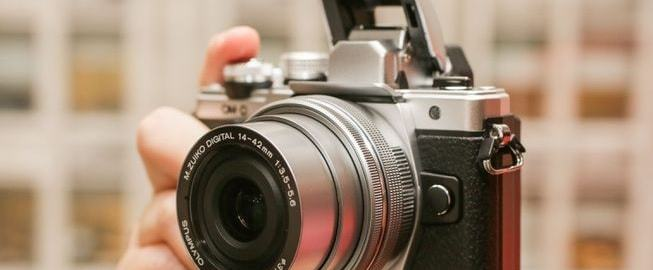 Olympus E-M10 Mark II Manual - camera front side