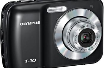 Olympus T-10 Manual - camera front side