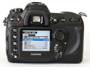 Fujifilm FinePix S5 Pro Manual U- camera back side