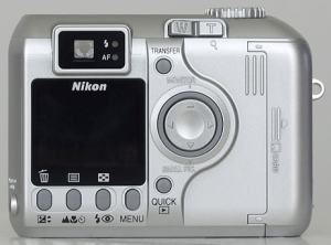 Nikon CoolPix 4300 Manual-camera back side
