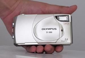 Olympus D-380 Manual - camera front face