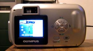 Olympus D-395 Manual - camera back side