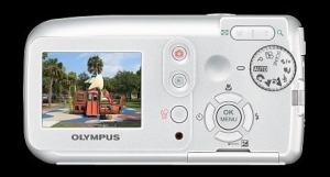 Olympus D-545 Zoom Manual - camera back side