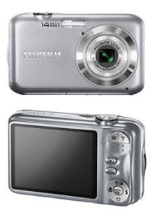 Fujifilm FinePix JV200 manual - camera front and back side